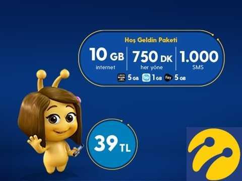 Hoşgeldin 10 GB Paketi 39 TL