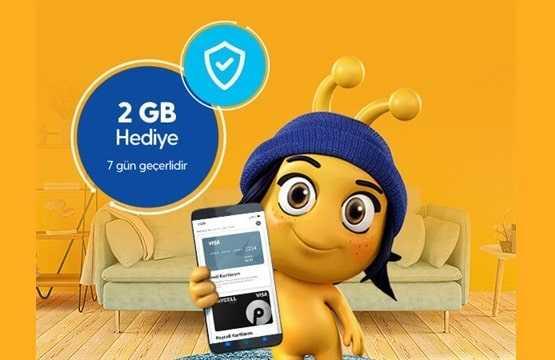 Kart Kayıt 2 GB Hediye İnternet Kampanyası