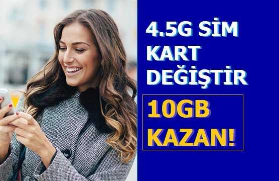 Ücretsiz Turkcell Sim Kart Yenileme 10 GB Bedava İnternet
