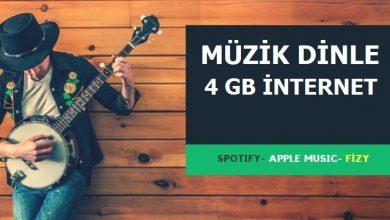 Photo of 4 GB fizy, Spotify, Powerapp, Apple Music Paketi