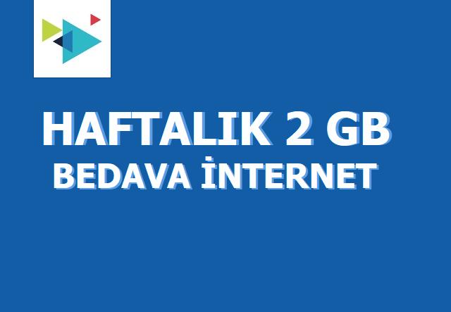 Türk Telekom Haftalık 2 GB Bedava İnternet