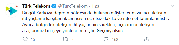 Türk Telekom Deprem İnternet