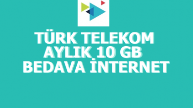 Photo of Türk Telekom Sil Süpür 10 GB Bedava İnternet