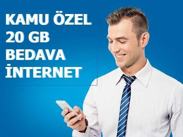 Turkcell İçişleri Bakanlığı Tarifesi 20 GB Bedava İnternet