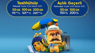 Photo of Turkcell Yazlık Paketi 50 GB İnternet 119 TL
