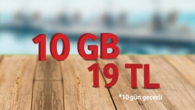 Photo of Vodafone Yaz Özel Faturasız  10 GB Paketi 19 TL