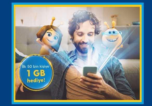 4.5G Süper Paket 1GB Bedava İnternet