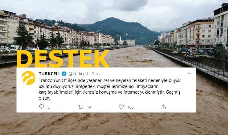 Photo of Sel Bölgesine Ücretsiz Konuşma ve İnternet Paketi