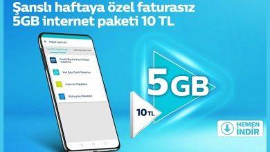 Photo of Türk Telekom Faturasız 5GB İnternet Paketi 10 TL