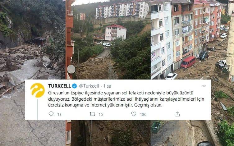 Photo of Turkcell Giresun Sel Bölgesi Ücretsiz Konuşma ve İnternet