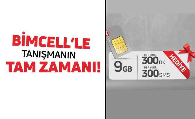Bimcell 9 GB Hediye İnternet Paketi