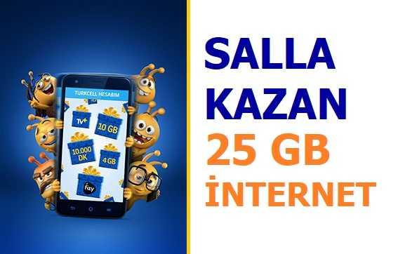 Salla Kazan 25 GB İnternet Şenliği