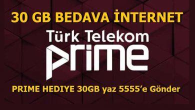 Photo of Türk Telekom Prime 30 GB Bedava İnternet