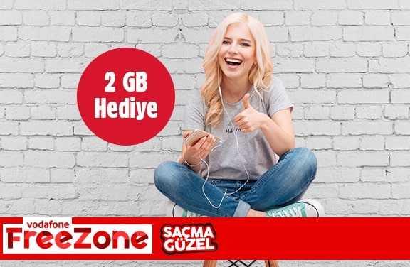 Vodafone FreeZone 2GB internet Kampanyası