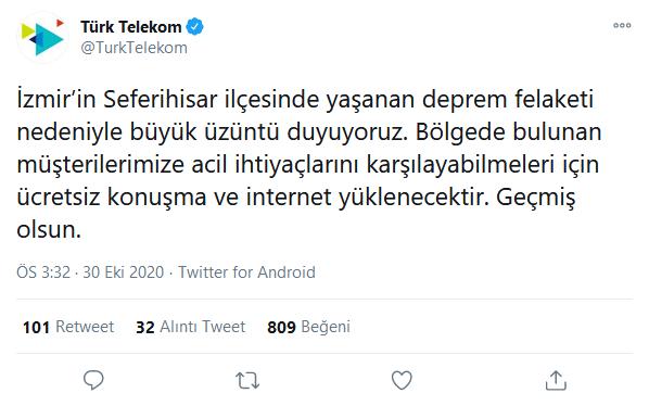 Türk Telekom Deprem Hediyesi