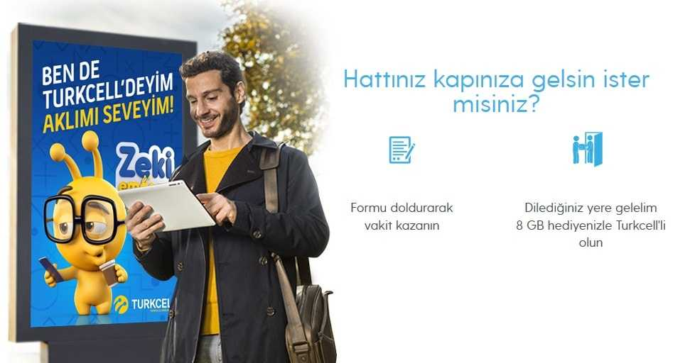 Turkcell İnternetten Numara Değiştirme veya Taşıma
