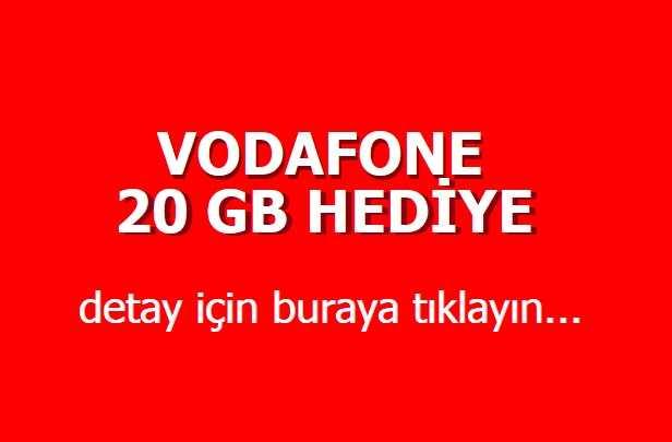 Vodafone Bedava İnternet 2020
