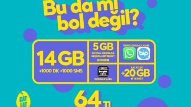 Photo of GNC Fırsat 19 Paketi 14 GB İnternet 64 TL