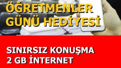 Photo of Türk Telekom Öğretmenler Günü 2 GB + Sınırsız Konuşma