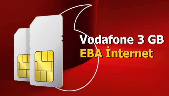 Vodafone 3 GB EBA İnternet