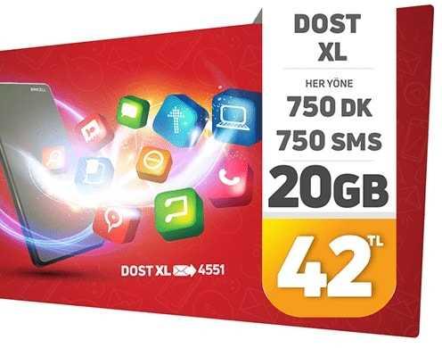 Dost 20 GB Paketi Nasıl Yapılır?