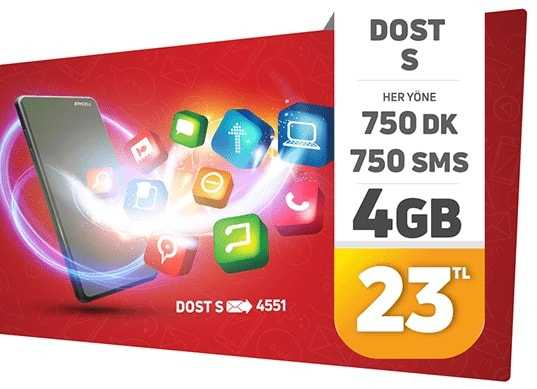 Dost 4 GB Paketi Nasıl Yapılır?