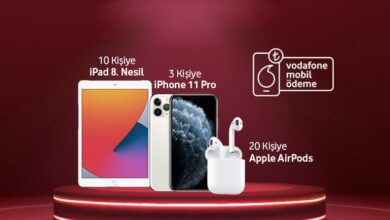 Photo of Vodafone Mobil Ödeme iPhone, iPad ve Airpods Çekilişi