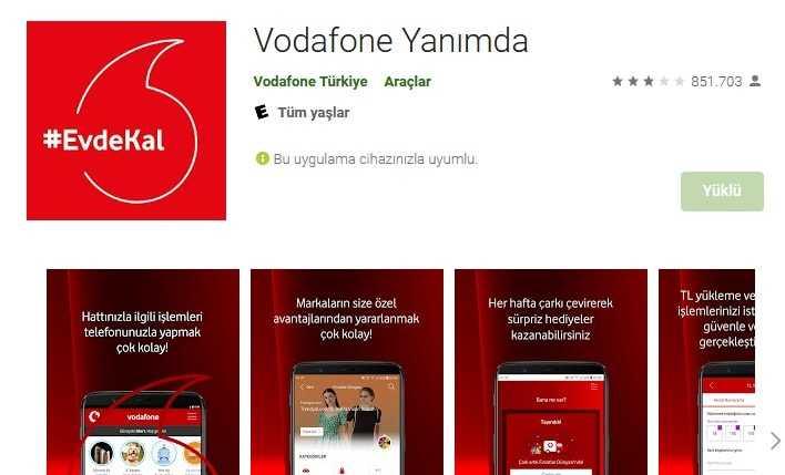 Vodafone Yanımda Uygulama Mağazası