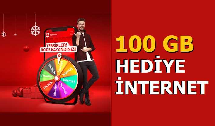 Vodafone Yılbaşı 100 GB Bedava İnternet 2021