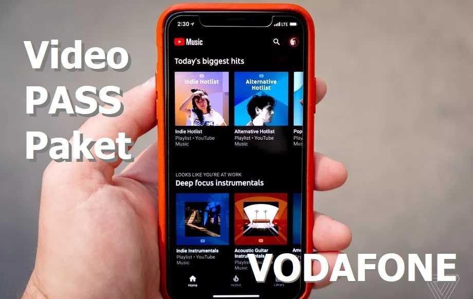 Vodafone Faturasız Youtube Paketi