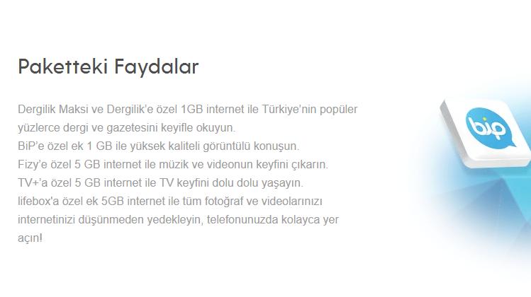 Turkcell Faturalı Bol 22 GB Paketi