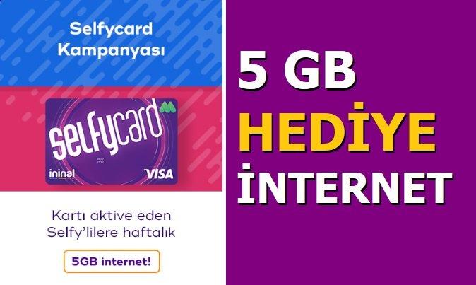 SelfyCard Al 5 GB Bedava İnternet Kazan