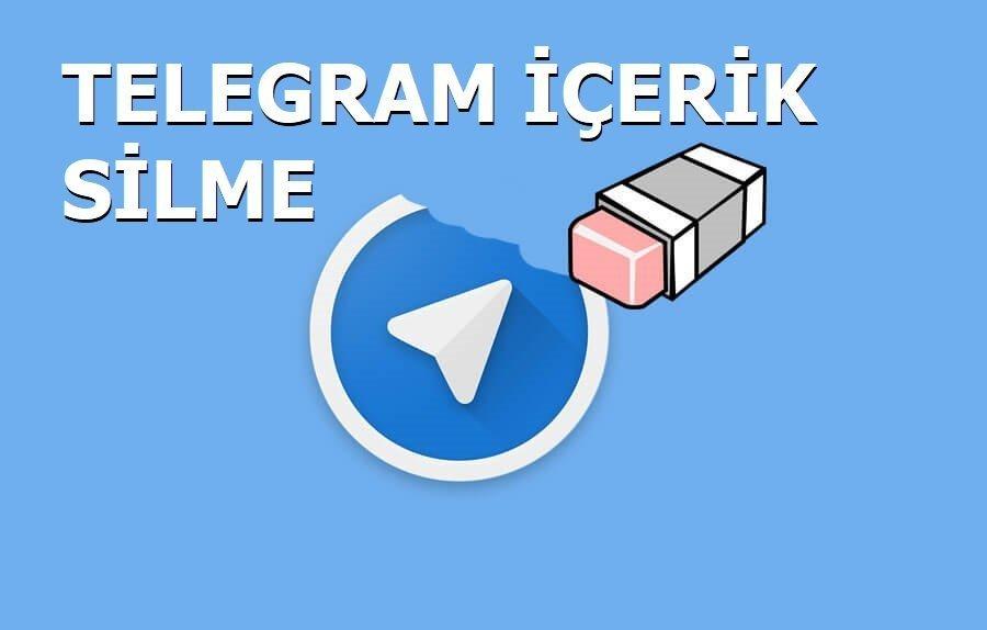 Telegram hesabımı ve yöneticisi olduğum içerikleri sil