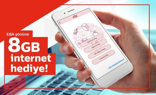 8 GB Bedava internet kampanyası