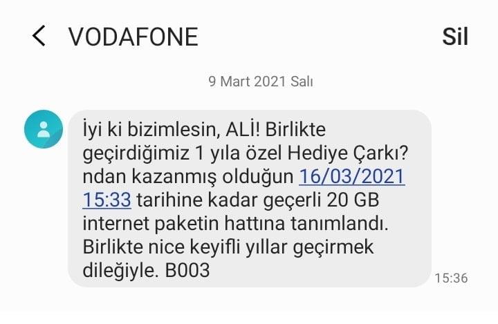 Vodafone Bedava internet hilesi yok! Ama 20 GB Var