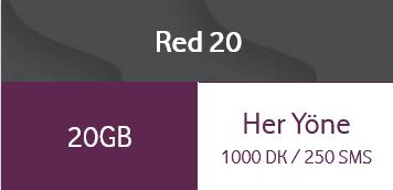 Vodafone Red 20 Tarifesi