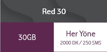 Vodafone Red 30 Tarifesi