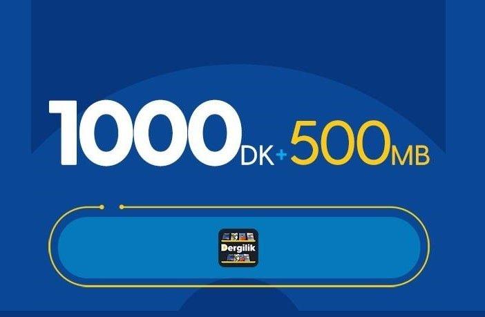 Turkcell Faturasız 1000 DK Konuşma Paketi 30 TL