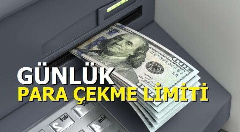 Günlük Para Çekme Limiti Arttırma