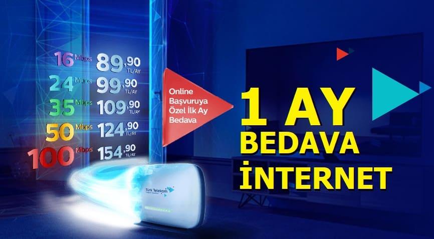 Türk Telekom 1 Ay Bedava Evde internet