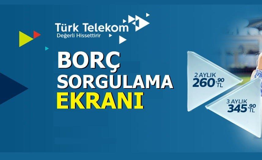 Türk Telekom Borç Sorgulaması Ekranı