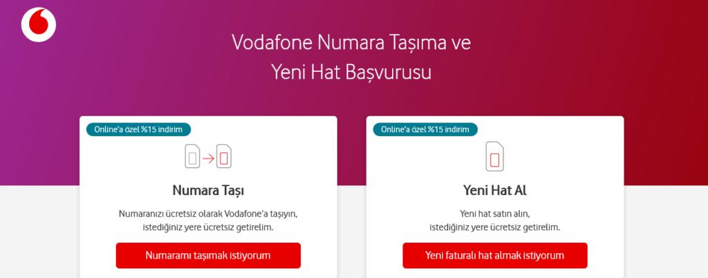 Vodafone Yeni Hat Tarifeleri