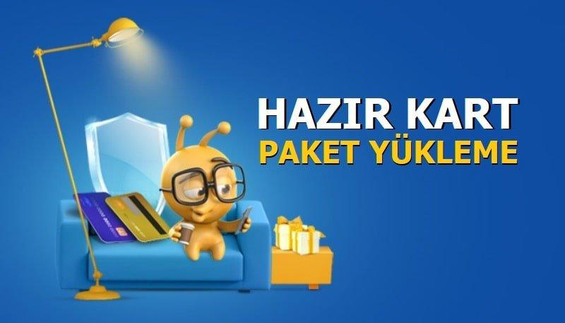 Turkcell Hazır Kart Paket Yükleme