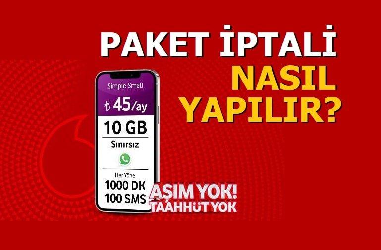 Vodafone Ek Paket İptali