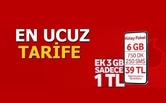 Vodafone En Ucuz Tarife