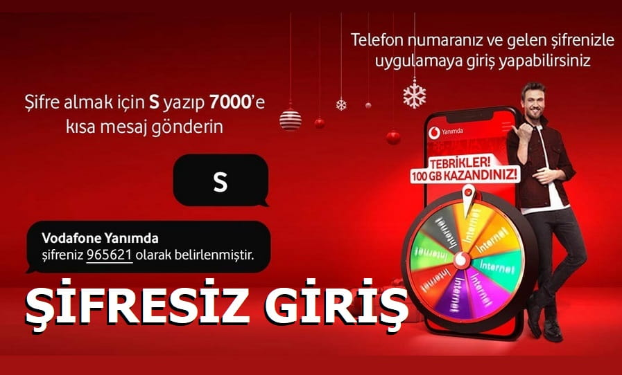 Vodafone Yanımda Şifresiz Giriş